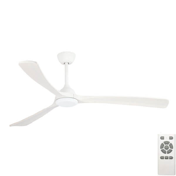 Sanctuary DC Ceiling Fan with Timber Blades in white