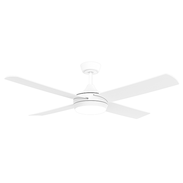 Airborne Breeze White Dc Ceiling Fan With Cct Led Light Remote 48